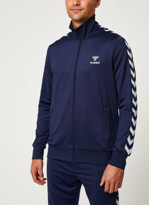 Vêtements Hummel Hmlnathan Zip Jacket - Selectionné par Mister V - Bleu vue détail/paire