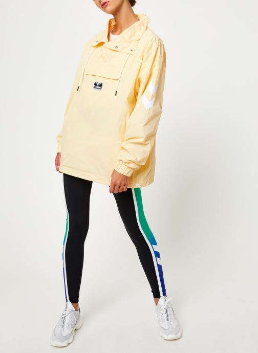 Vêtements Hummel Hmlcalista Half Zip Jacket Jaune vue bas / vue portée sac