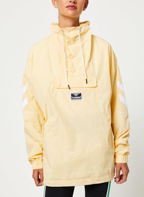 Vêtements Hummel Hmlcalista Half Zip Jacket Jaune vue droite