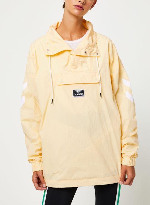 Vêtements Hummel Hmlcalista Half Zip Jacket Jaune vue détail/paire