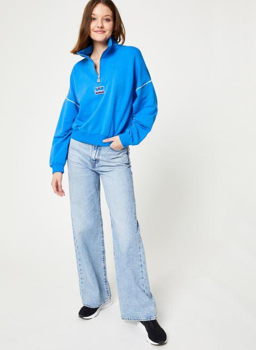 Vêtements Hummel Hmlcia Half Zip Bleu vue bas / vue portée sac