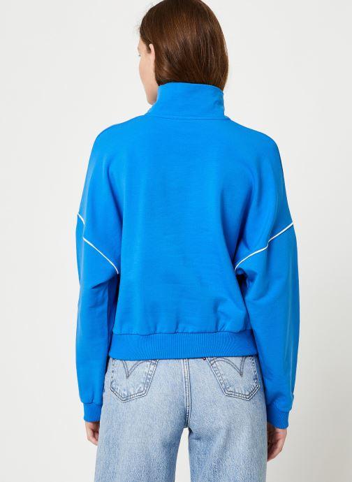 Vêtements Hummel Hmlcia Half Zip Bleu vue portées chaussures