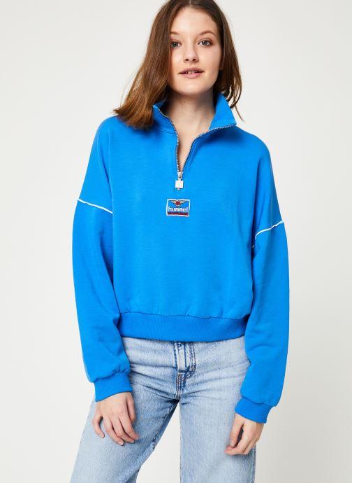 Vêtements Hummel Hmlcia Half Zip Bleu vue détail/paire