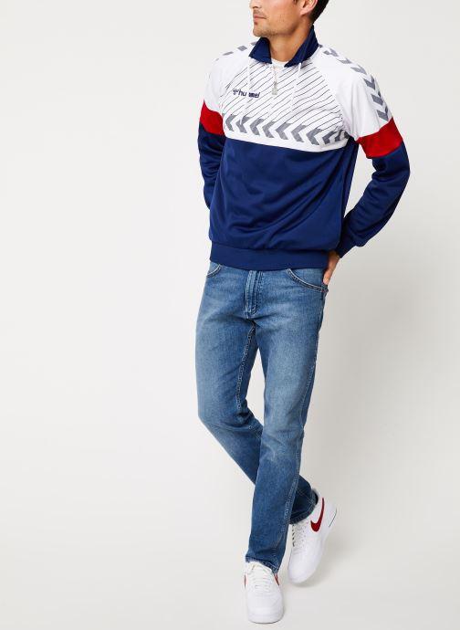 Vêtements Hummel Hmlbeck Half Zip Jacket Bleu vue bas / vue portée sac