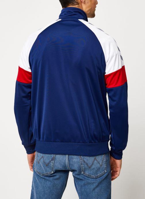 Vêtements Hummel Hmlbeck Half Zip Jacket Bleu vue portées chaussures