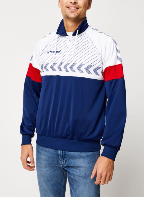 Vêtements Hummel Hmlbeck Half Zip Jacket Bleu vue droite