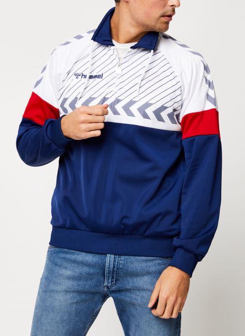Vêtements Hummel Hmlbeck Half Zip Jacket Bleu vue détail/paire