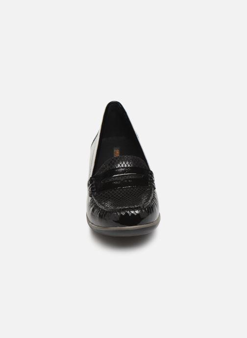 Slipper Geox DARETHEA schwarz schuhe getragen