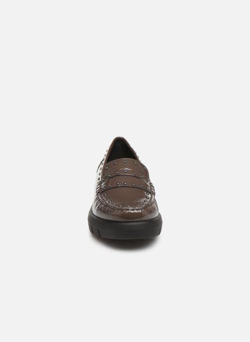 Mocassins Geox DWIMBLEYMOC Marron vue portées chaussures