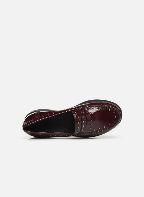 Loafers Geox DWIMBLEYMOC Burgundy view from the left