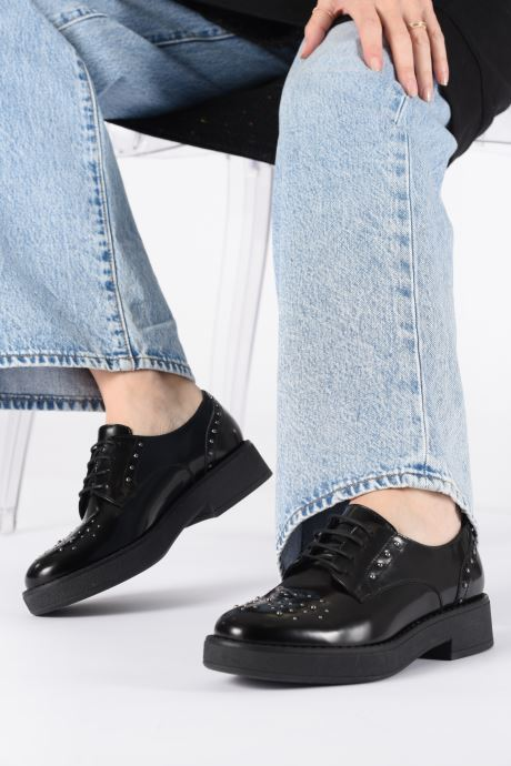 Lace-up shoes Geox DADRYA Black view from underneath / model view