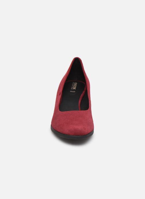Escarpins Geox DCALINDAMID Bordeaux vue portées chaussures