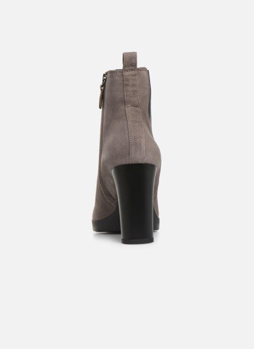 Bottines et boots Geox DANNYAHIGH2 Gris vue droite