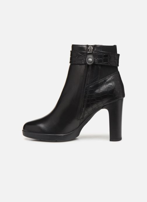 Boots en enkellaarsjes Geox DANNYAHIGH4 Zwart voorkant