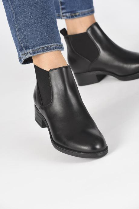 Bottines et boots Geox DFELICITYNPABX Noir vue bas / vue portée sac