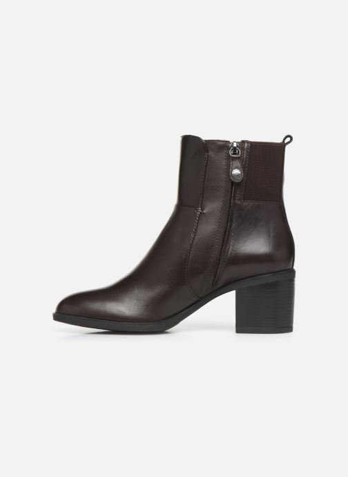 Ankle boots Geox DGLYNNA Brown front view