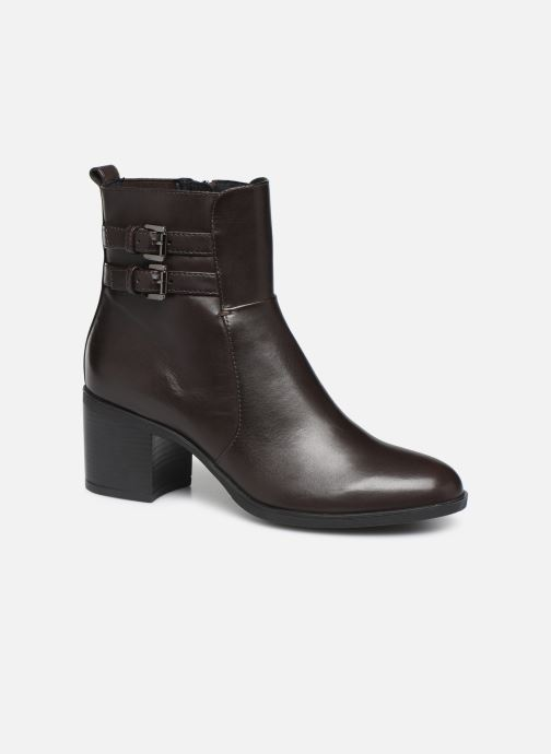 Ankle boots Geox DGLYNNA Brown detailed view/ Pair view