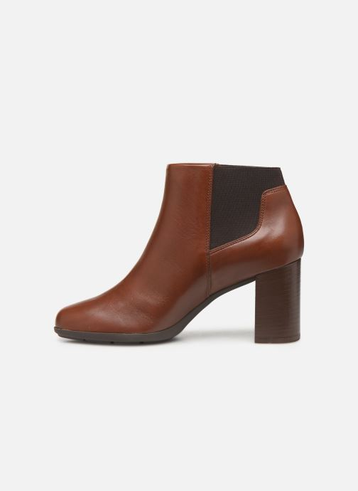 Ankle boots Geox DNEWANNYA Brown front view