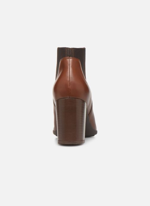 Ankle boots Geox DNEWANNYA Brown view from the right