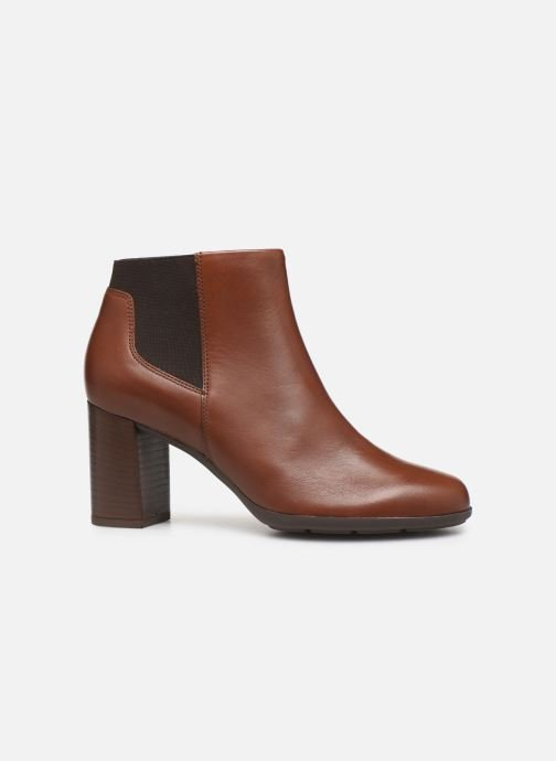 Ankle boots Geox DNEWANNYA Brown back view