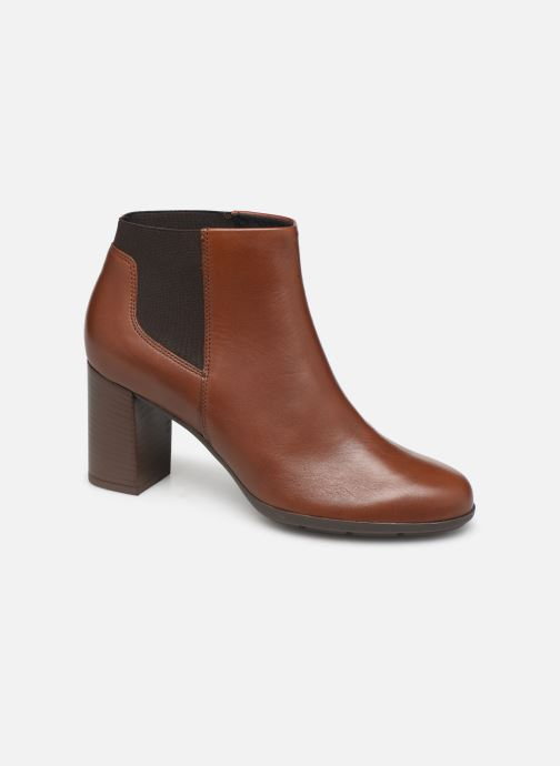 Ankle boots Geox DNEWANNYA Brown detailed view/ Pair view