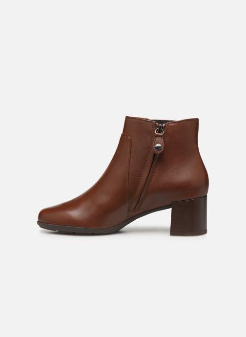 Boots en enkellaarsjes Geox DNEWANNYAMID Bruin voorkant