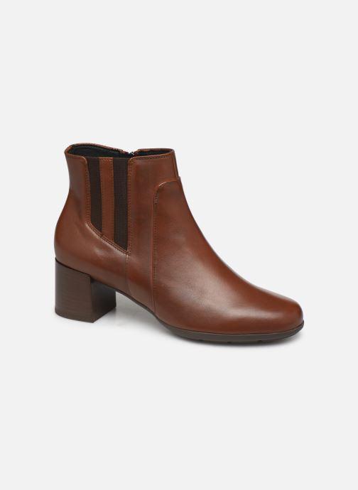 Bottines et boots Geox DNEWANNYAMID Marron vue détail/paire