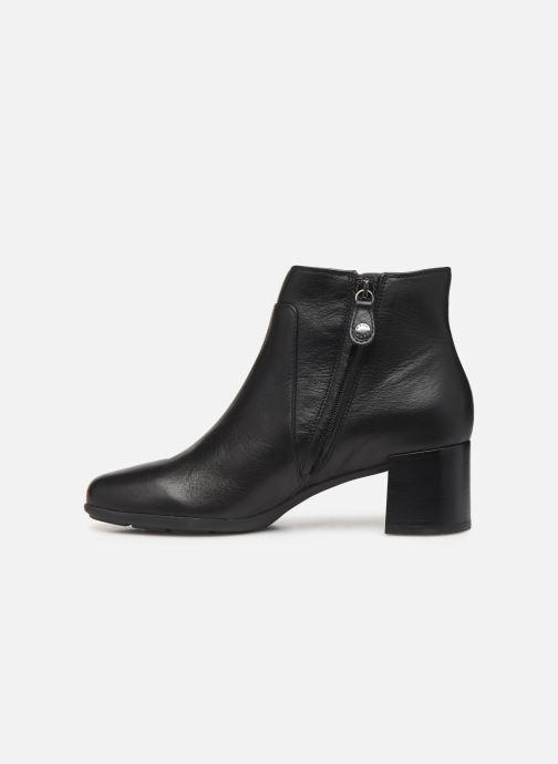 Bottines et boots Geox DNEWANNYAMID Noir vue face