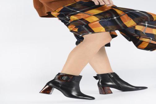 Bottines et boots Geox DSEYLAHIGH2 Noir vue bas / vue portée sac