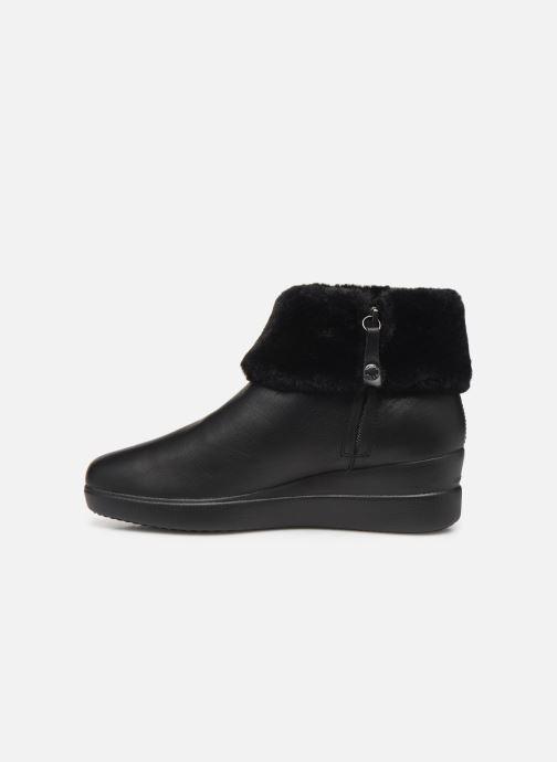 Boots en enkellaarsjes Geox DSTARDUST Zwart voorkant