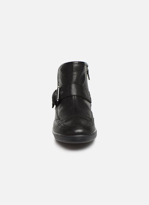 Bottines et boots Geox DTAHINA Noir vue portées chaussures