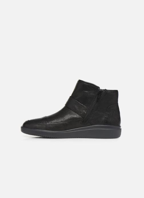 Bottines et boots Geox DTAHINA Noir vue face