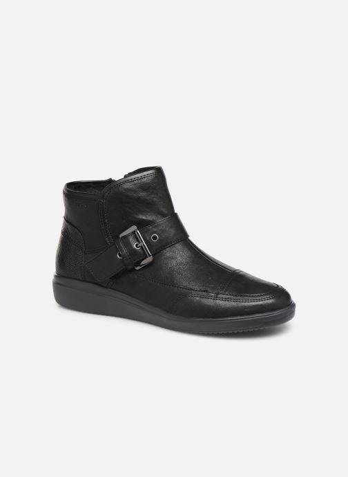 Ankle boots Geox DTAHINA Black detailed view/ Pair view