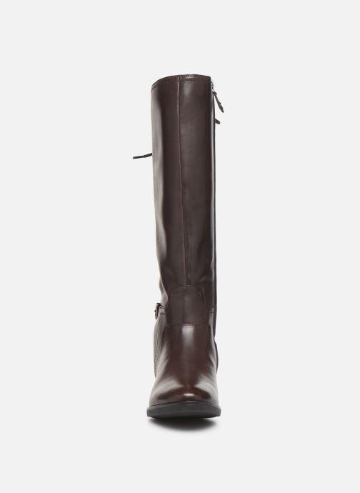 Bottes Geox DFELICITY_D84 Marron vue portées chaussures