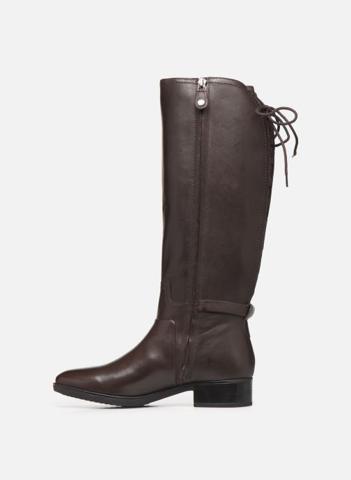 Boots & wellies Geox DFELICITY_D84 Brown front view