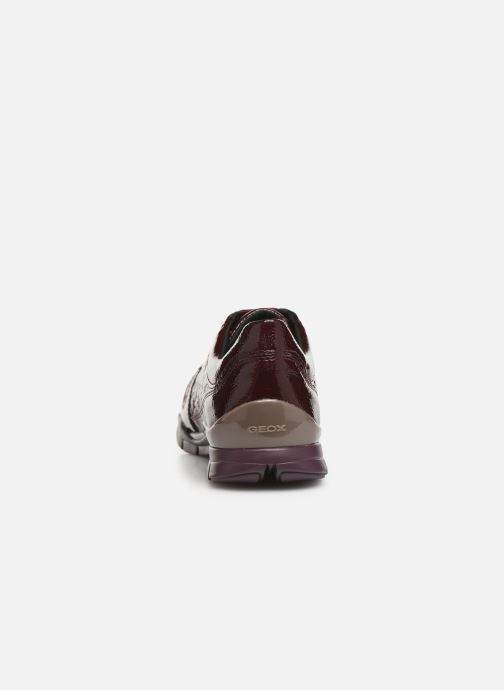 Trainers Geox DSUKIED-NAPLACKSINT.+NAPL Burgundy view from the right
