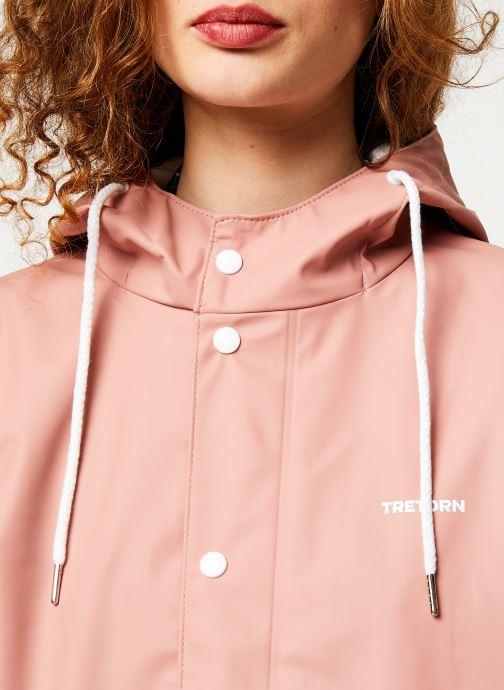 Vêtements Tretorn Wings Plus Rain Jacket W C Rose vue face