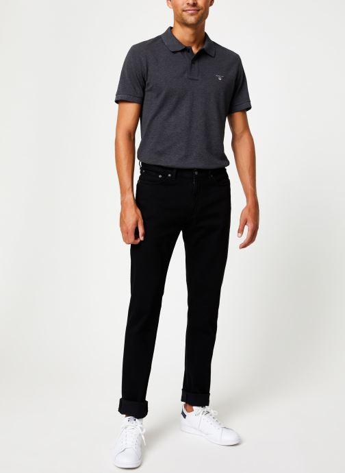 Vêtements GANT Slim Black Gant Jeans Noir vue bas / vue portée sac