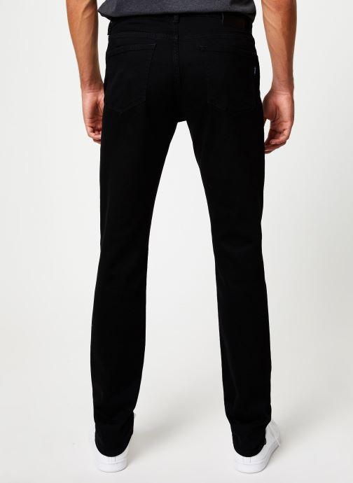 Vêtements GANT Slim Black Gant Jeans Noir vue portées chaussures
