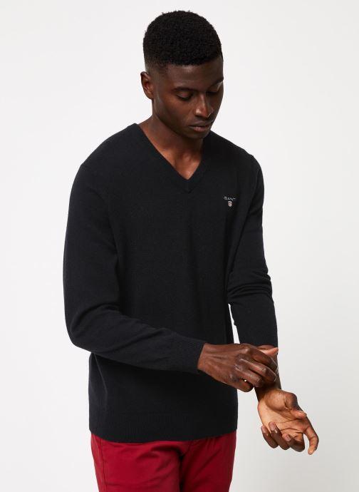 Vêtements GANT Superfine Lambswool V-Neck Noir vue droite