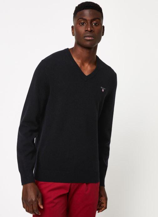 Vêtements Gant Superfine Lambswool V-Neck Noir vue détail/paire