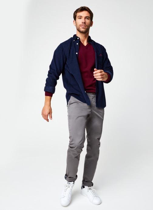 Vêtements GANT Superfine Lambswool V-Neck Bleu vue bas / vue portée sac