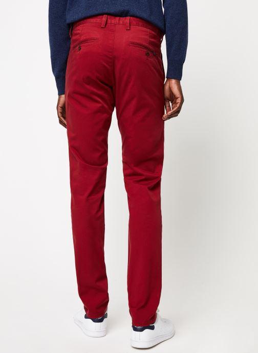 Vêtements Gant Slim Twill Chino Rouge vue portées chaussures