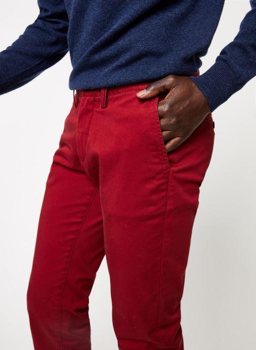 Vêtements GANT Slim Twill Chino Rouge vue face