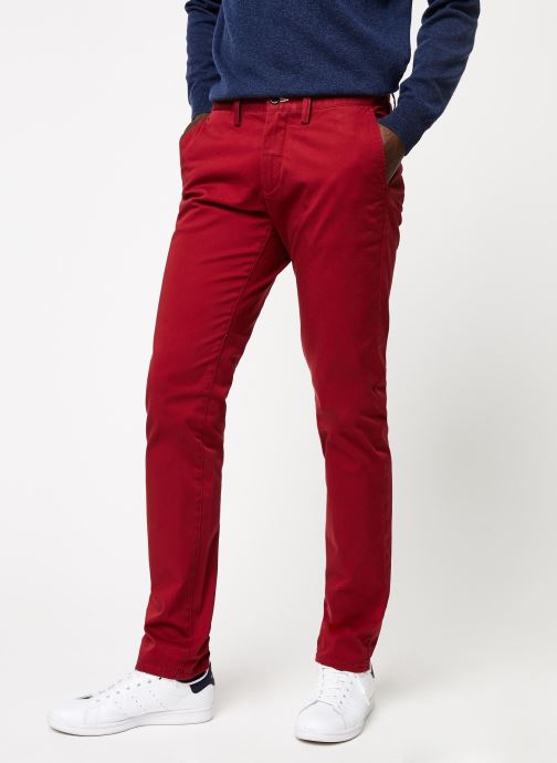 Vêtements Gant Slim Twill Chino Rouge vue détail/paire