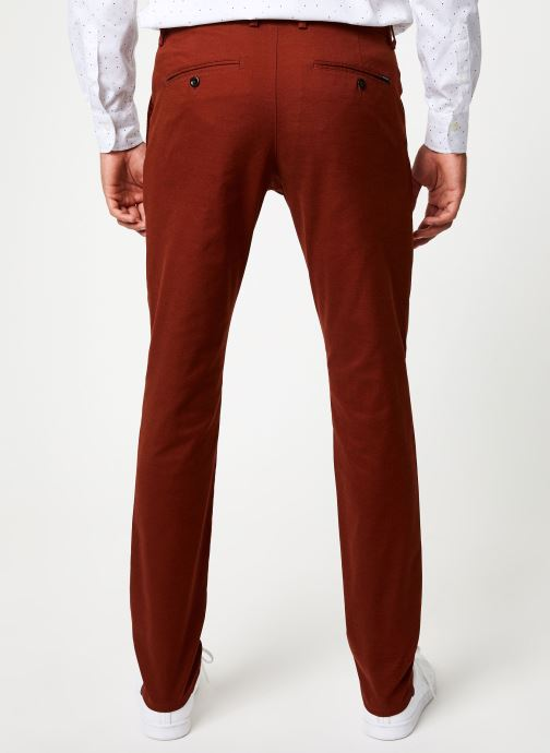 Vêtements Gant Slim Tech Prep Chino Orange vue portées chaussures