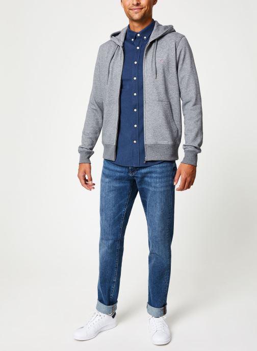 Vêtements Gant The Original Full Zip Hoodie Gris vue bas / vue portée sac