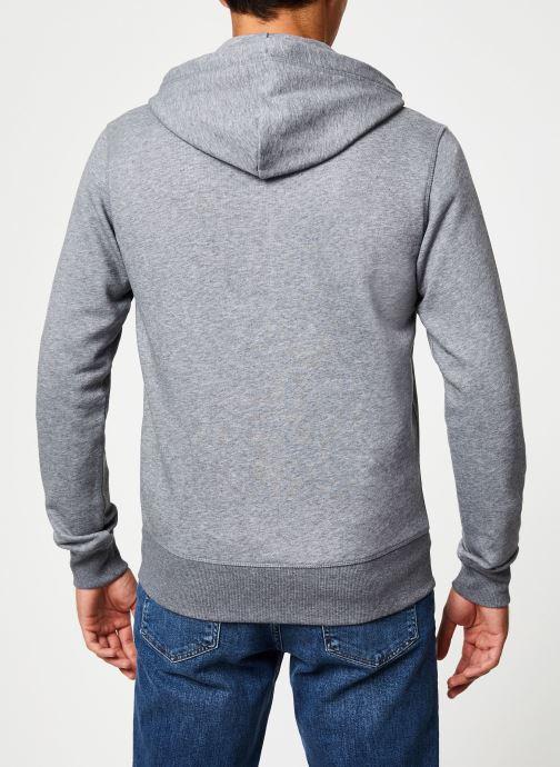Vêtements Gant The Original Full Zip Hoodie Gris vue portées chaussures