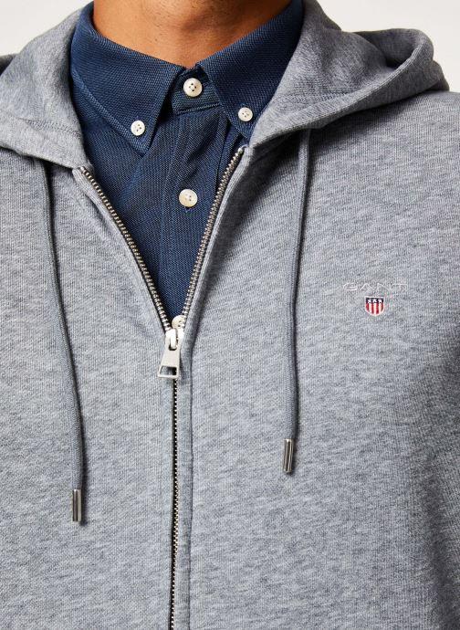 Vêtements Gant The Original Full Zip Hoodie Gris vue face