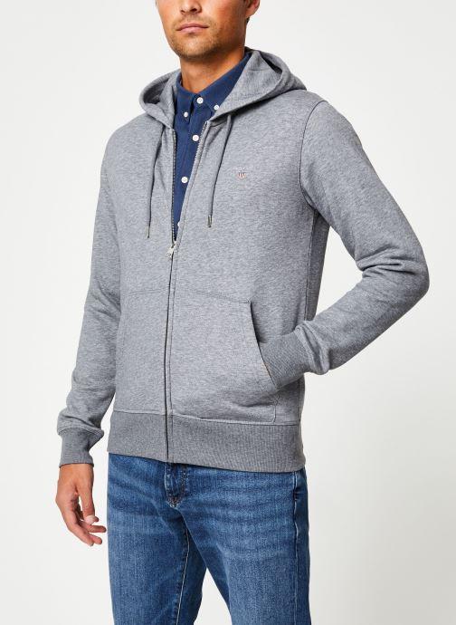 Vêtements Gant The Original Full Zip Hoodie Gris vue détail/paire